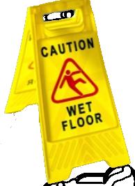 |Wet floor warning sign