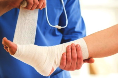 Burned foot injury compensation