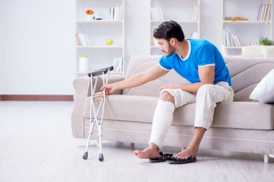 Fractured tibia injury compensation