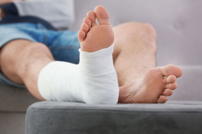 Torn ankle ligament injury compensation