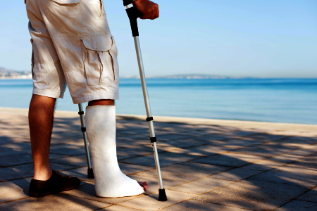Leg injury caused by a car accident compensation